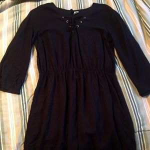Long sleeve little black dress H&M